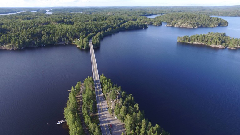 Puumala Ridge is one of Finland's best locations for road trips