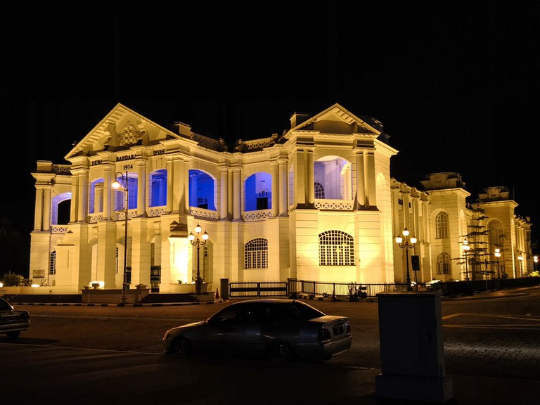 Night view of the Ipoh City Hall, Malaysia