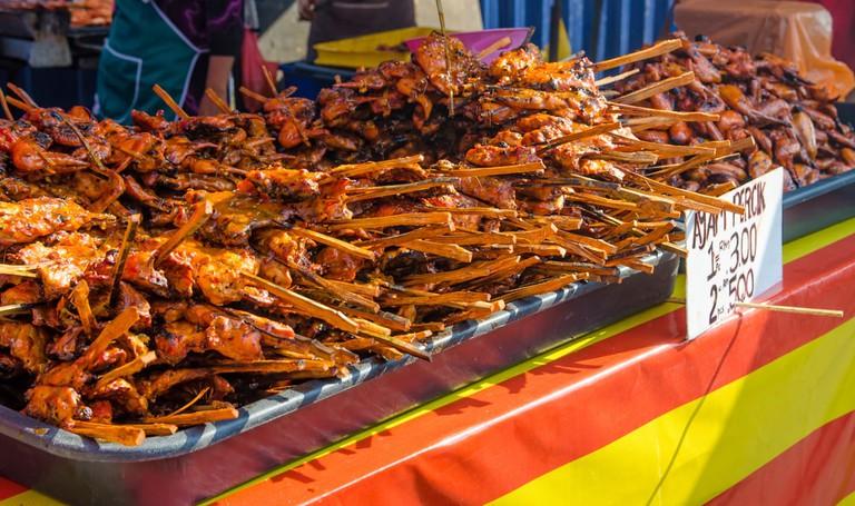 Tasty ayam percik selling in Ramadan Bazaar