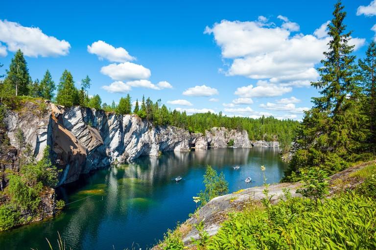 Ruskeala marble quarry, Karelia, Russia (1)