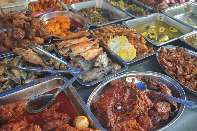 Variety of Malaysian home cooked dishes