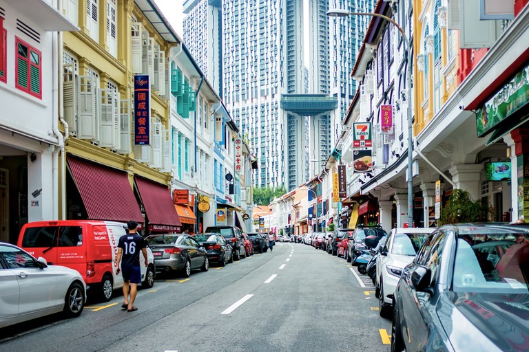 Keong Saik Road in Chinatown, Singapore