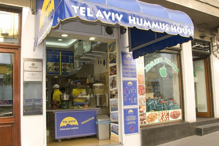A daytime look at Tel Aviv Hummus House