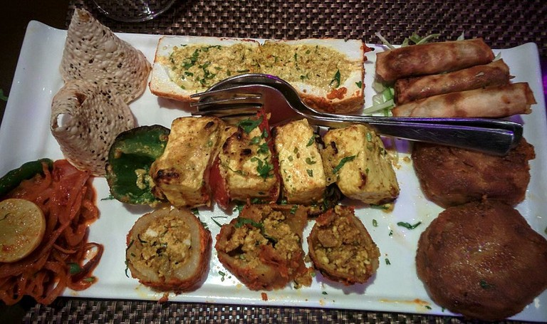 Vegetarian Kebab Platter is available at Vansh
