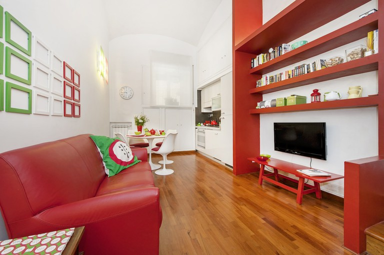 The light and bright living room