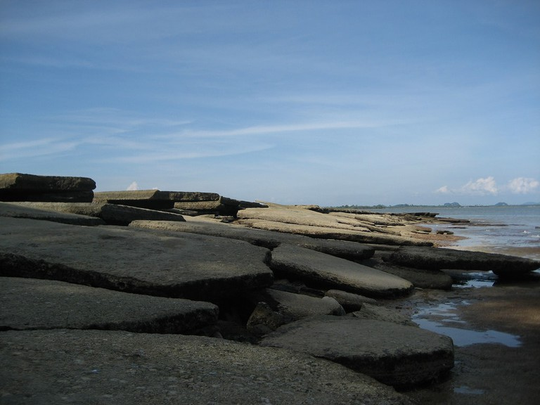 Fossil beach in Krabi