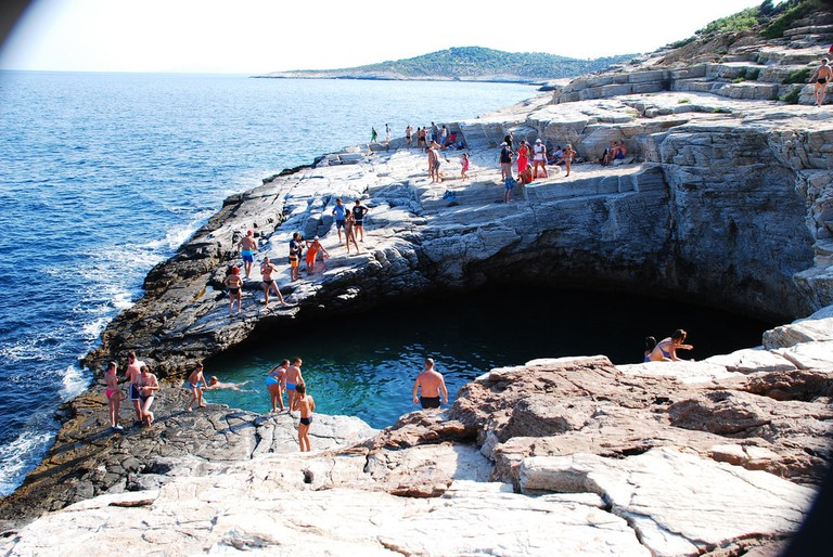 The Giola is a beautiful natural lagoon, like a swimming pool carved into the rocks.