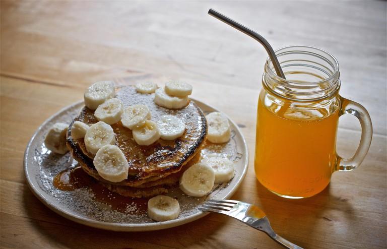 Pancakes and juice
