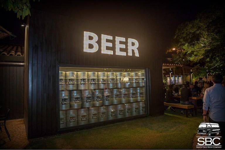 Beer at the Santa Cruz Beer Garden