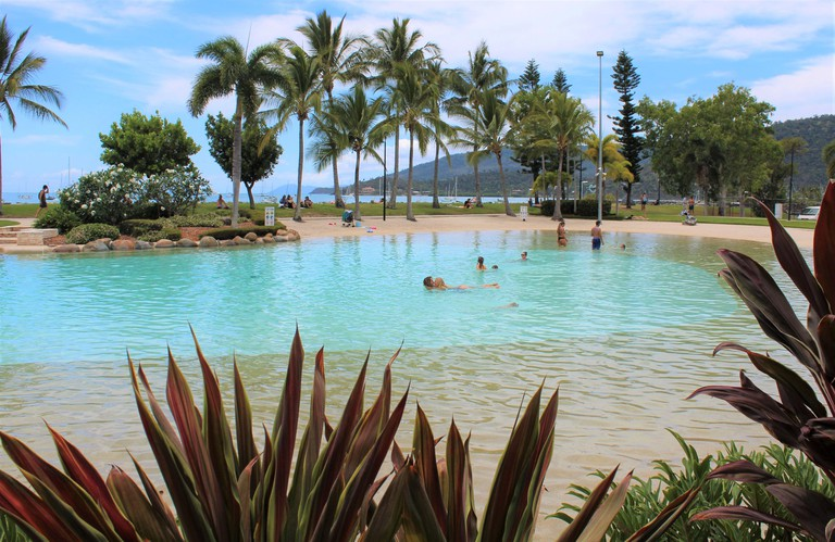 Airlie Beach Lagoon, at Airlie Beach, Whitsunday Region of Queensland, Australia.