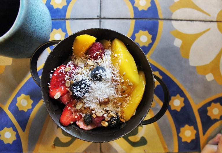 Acai bowl at Ojo de Agua