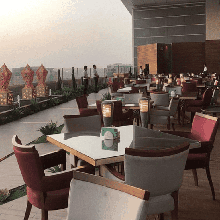 The balcony overlooks one of the best views of Jeddah