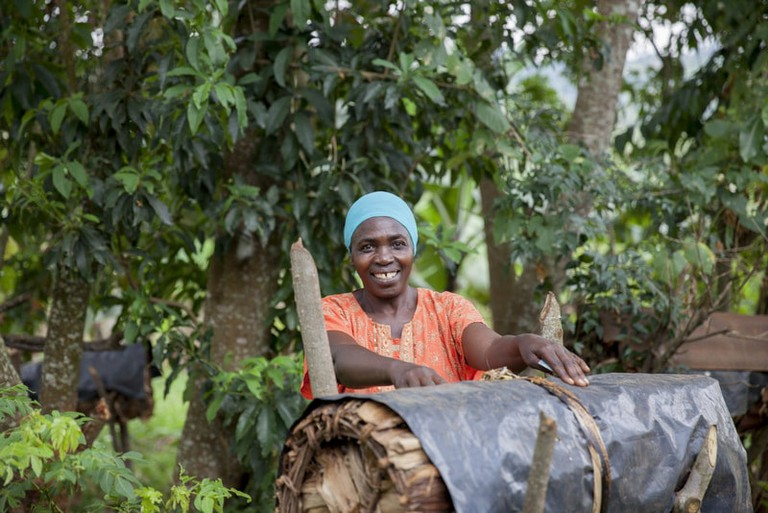 A woman supported by CARE International Uganda