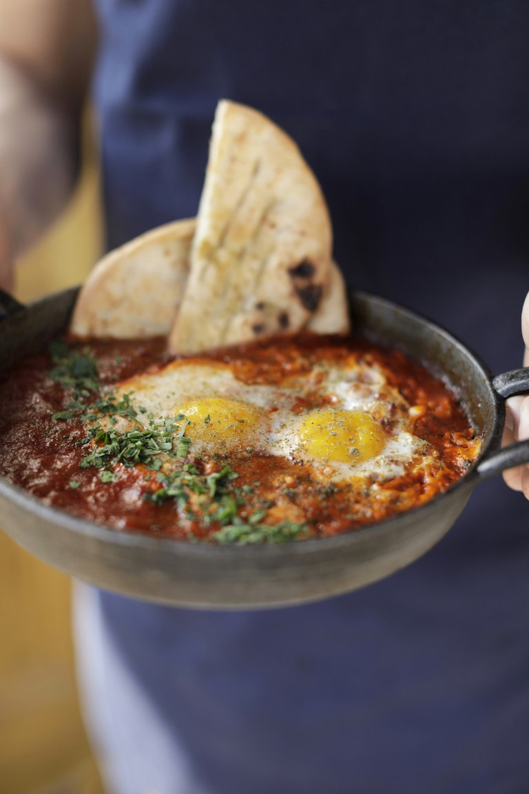 CERU's brunch menu includes shakshuka