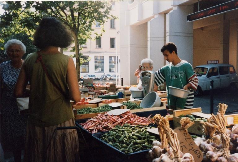 Marché de la Croix-Rousse, one of Lyon's largest outdoor markets and an amazing place to visit.