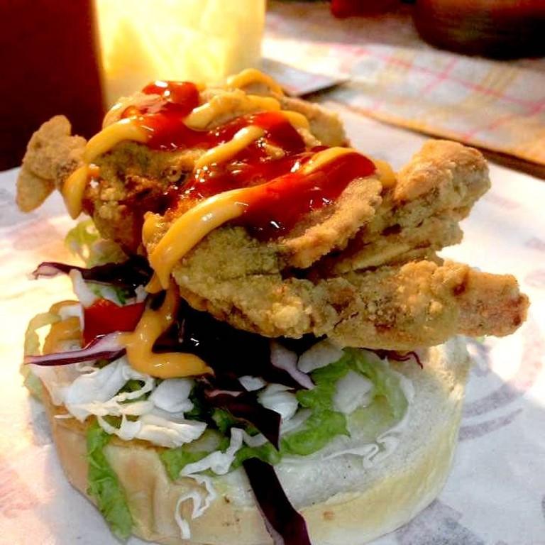 Soft Shell Crab Burger at DMarta Cafe Penang