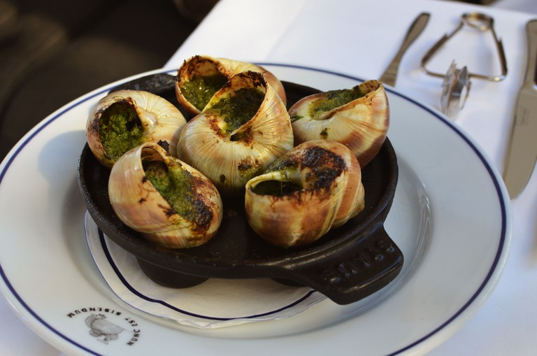 Bibendum serves up a range of dishes, including escargot (snail)