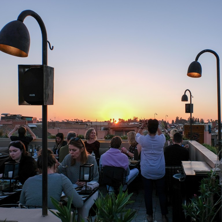 Sunset from Nomad rooftop