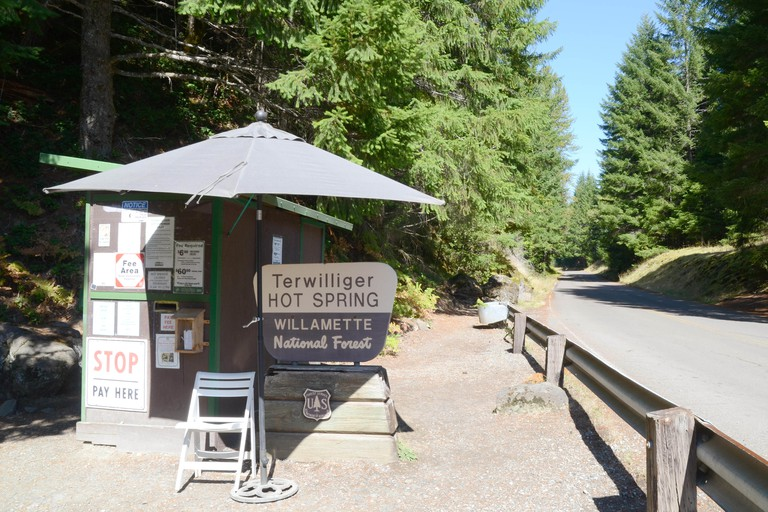 Terwilliger Hot Springs, Willamette National Forest, Oregon. Image shot 10/2014. Exact date unknown.