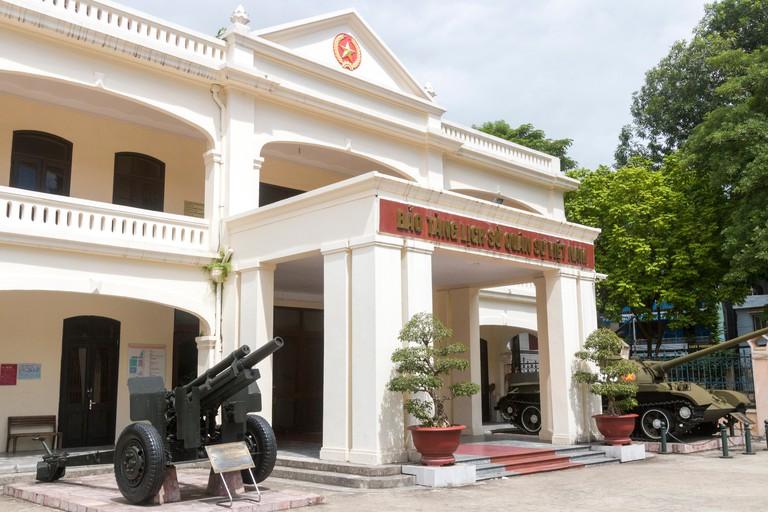 Hanoi,capital of Vietnam. Military history museum entrance, Hanoi.