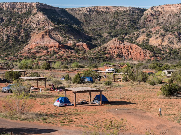 Mesquite Camp Area, Palo Duro State Park, Texas.