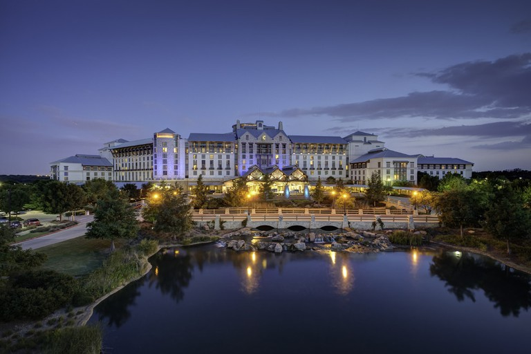 The Gaylord Texan Resort & Convention Center is a popular North Texas resort with beautiful grounds and a water park