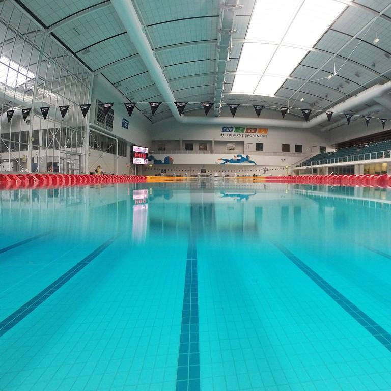 Inside the Melbourne Sports and Aquatics Centre