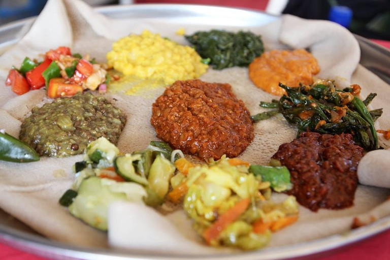 Ethiopian dinner at Abyssinia