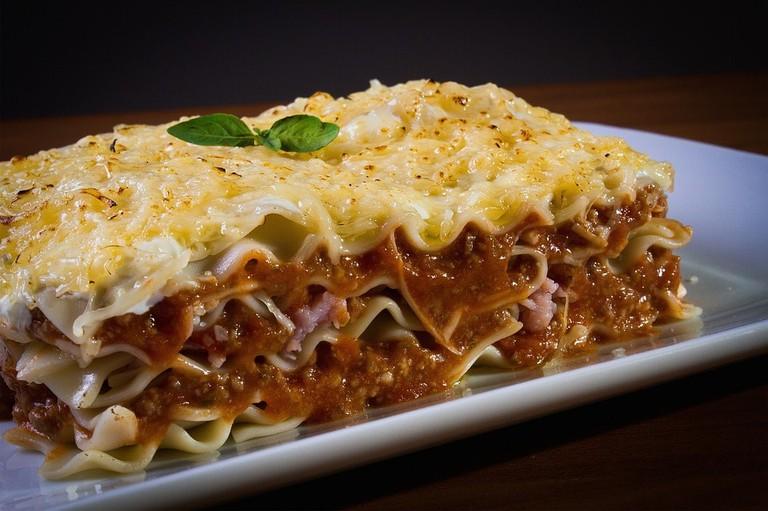 Italian food, lasagna
