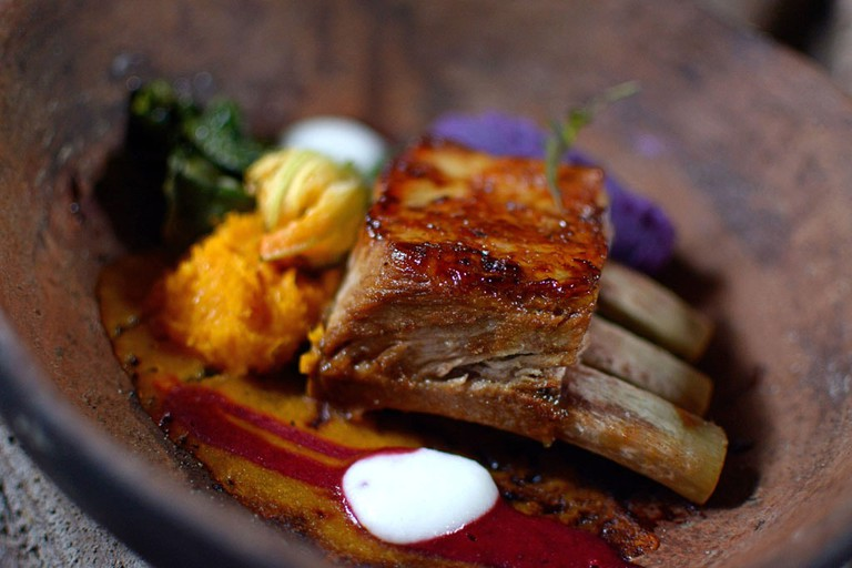Pork ribs are one of the best dishes at Warung Bintang, Ubud, Bali.