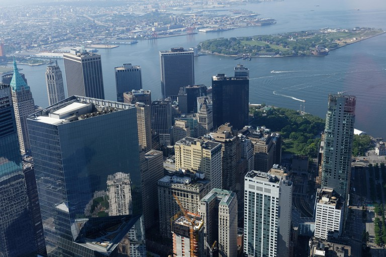View of New York from One World Trade Center Observatory.