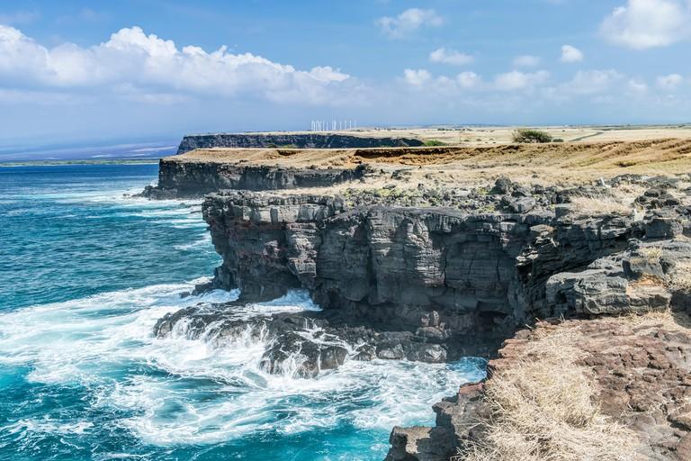 USA, Hawaii, Big Island, South Point (Ka Lae) the southern most point of Hawaii and the US 50 states