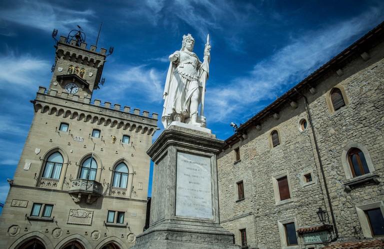 A piazza in the republic of San Marino, Italy | © Vid Ponikvar/Sportida/SIPA/REX/Shutterstock