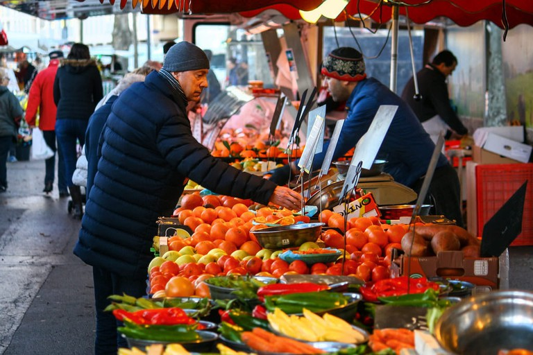 Marché Saint-Antoine is the place to be on a sunny Saturday morning.