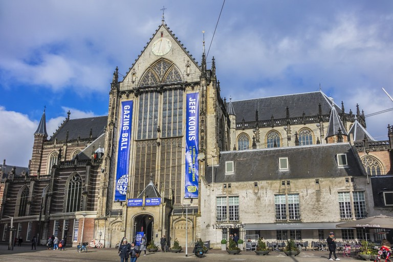 View of the Nieuwe kerk on Dam square, Amsterdam