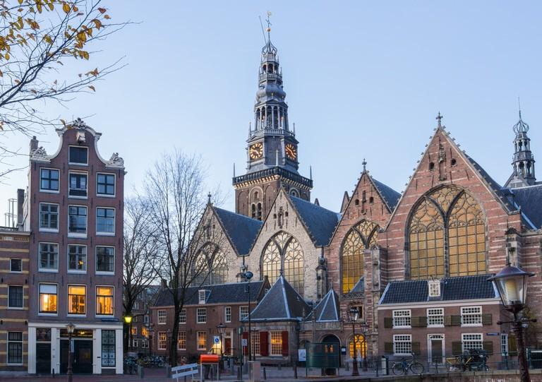 Oude Kerk in Amsterdam, Netherlands