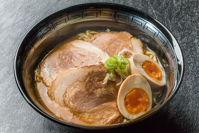 Gourmet of miso roasted pork fillet ramen