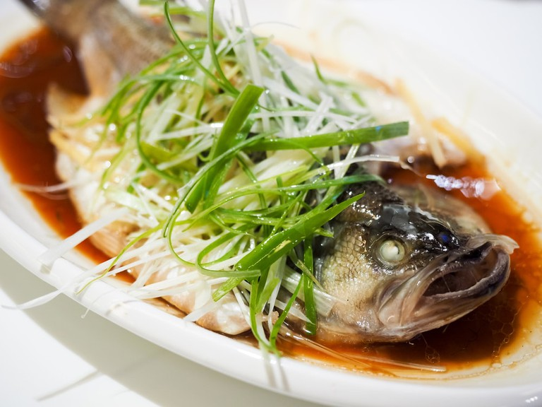 Fish in soy sauce