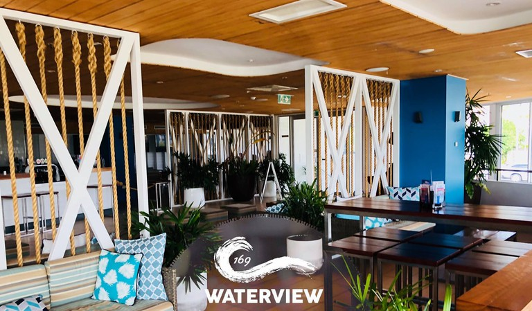 The wine lounge at Waterview 169