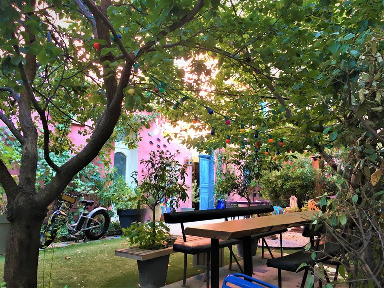 Outdoor seating area at Casa Ortega