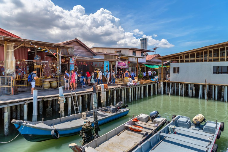 Chinese Clan Jetties, Weld Quay, George Town, Penang, Malaysia