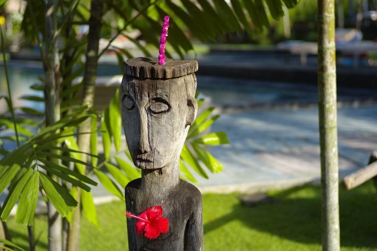 tribal statue at Desa Seni in Bali