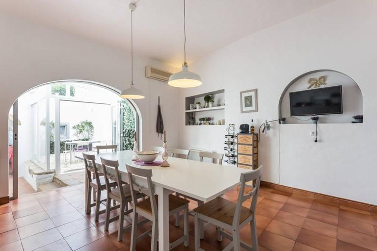 Kitchen in spacious villa