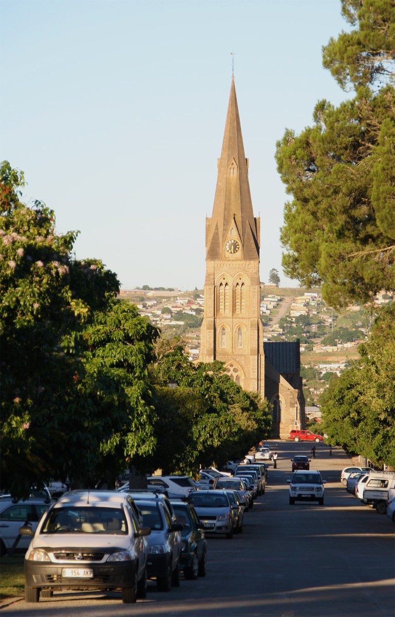 Grahamstown Cathedral seen from High Street
