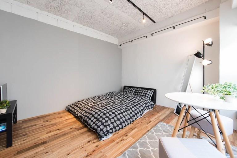Minimalist design runs throughout this Minato apartment