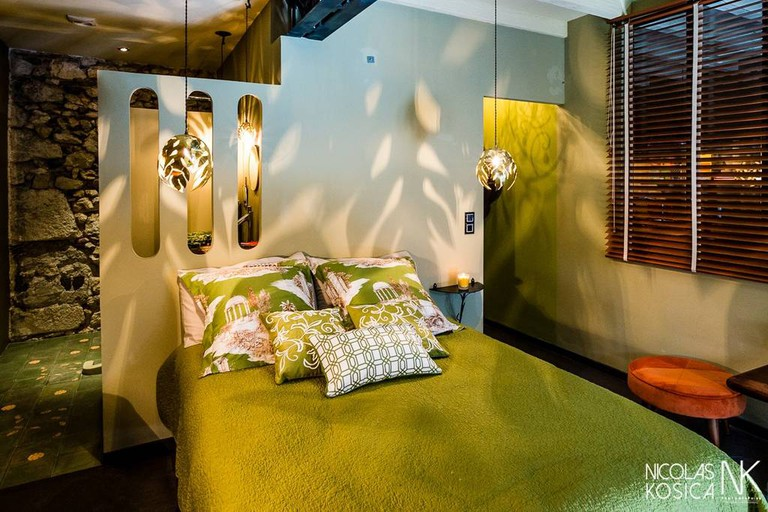 Bedroom at The Green Room