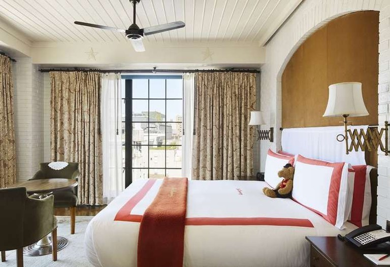 The rooms at the Bowery Hotel are light and homey