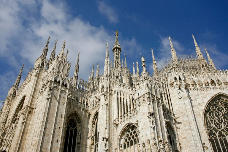 Exterior of Il Duomo Milan Italy. Image shot 2008. Exact date unknown.