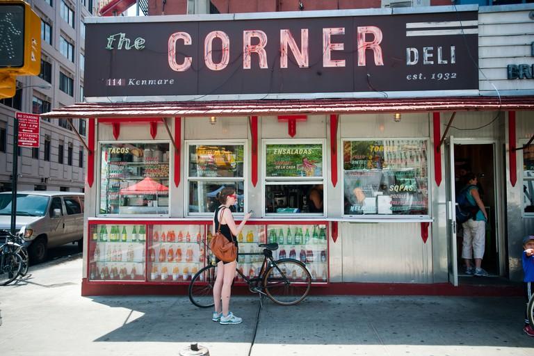 The trendy La Esquina Corner Deli in the Soho neighborhood of Manhattan in New York