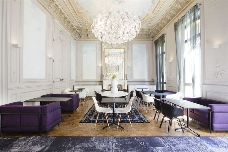 Many historical features have been maintained at the elegant C2 Hôtel